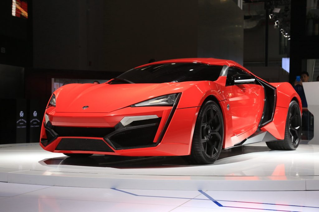 An image of a Lykan HyperSport parked indoors.