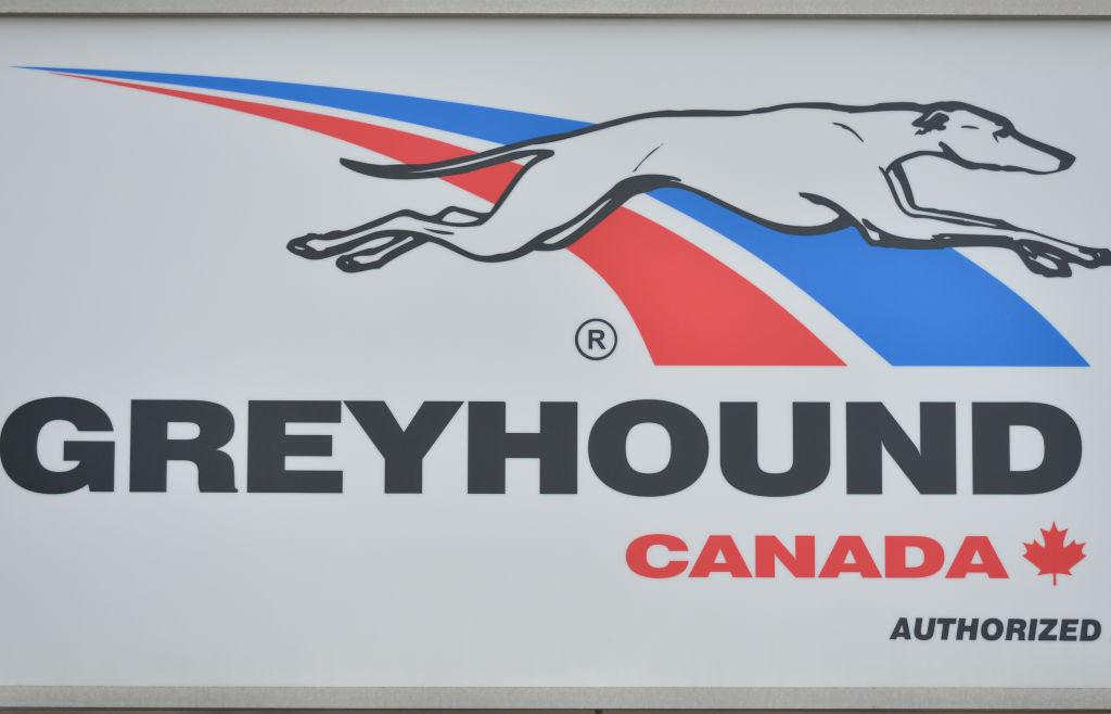 Greyhound Canada sign