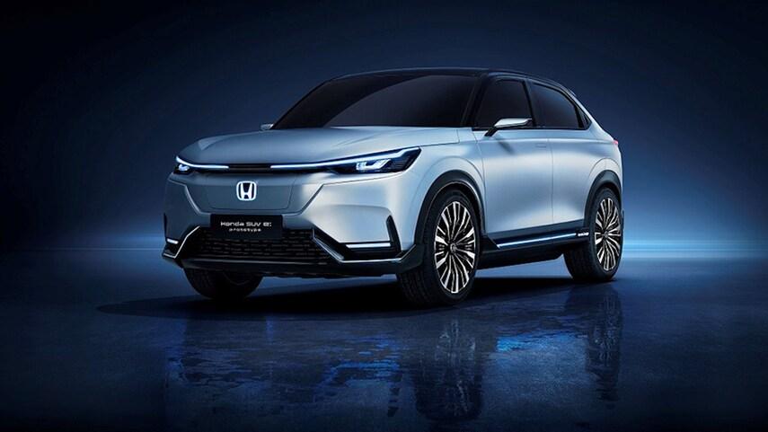The Honda SUV e:Protoype has a sleek new look with thin headlights.