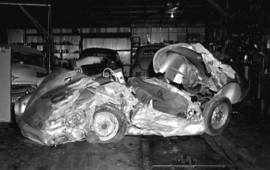remains of Dean Porsche
