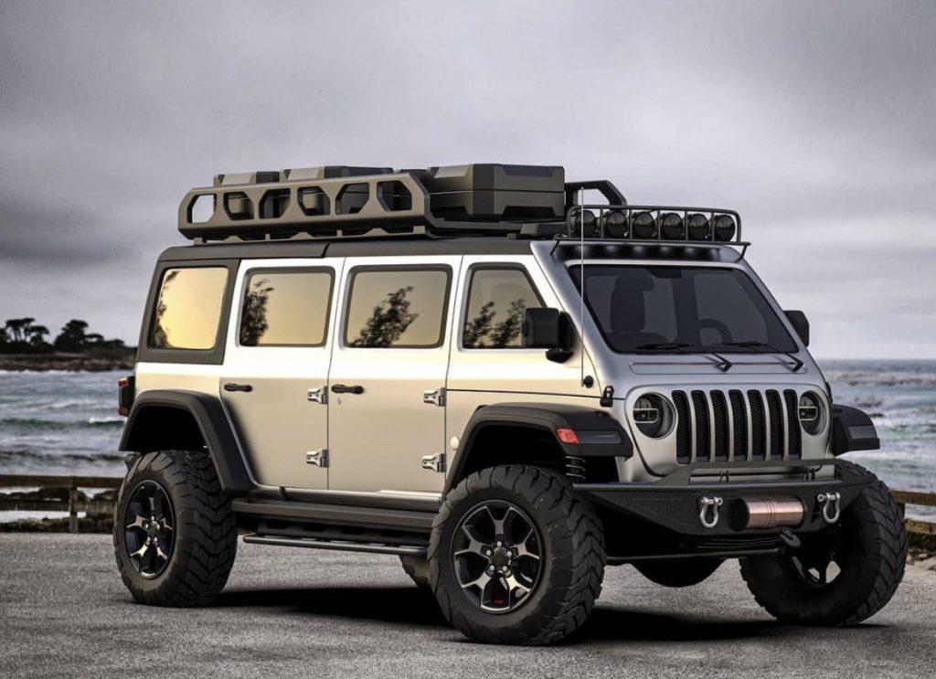 Jeep Wrangler van rendering | Samir S