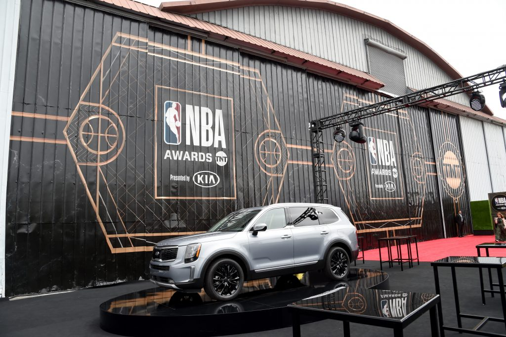 A Kia Telluride is seen during the 2019 NBA Awards presented by Kia on TNT