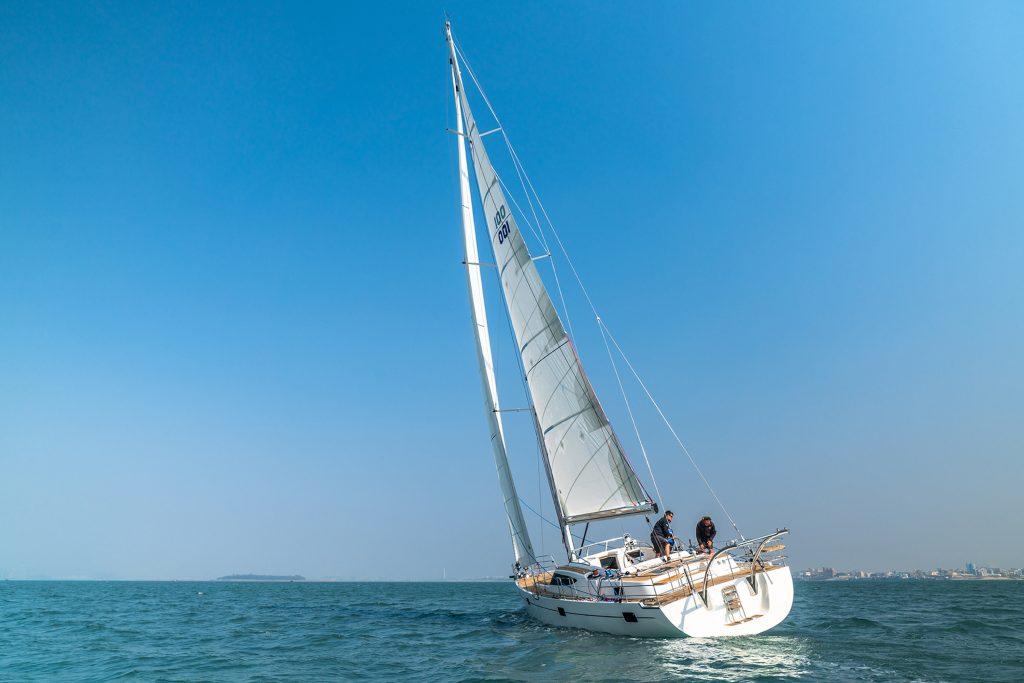 The Kraken50 sailing yacht on open water