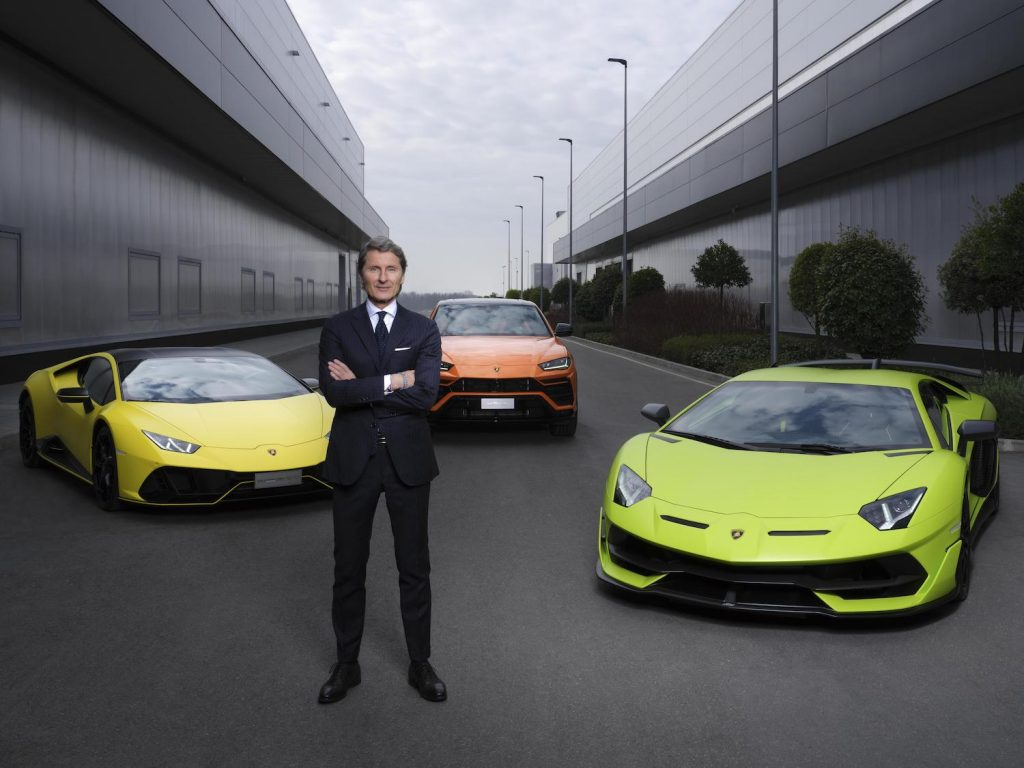 Pictured is Lamborghini CEO Stefan Winkelmann, who announced the brand's plans to launch a fully-electric supercar