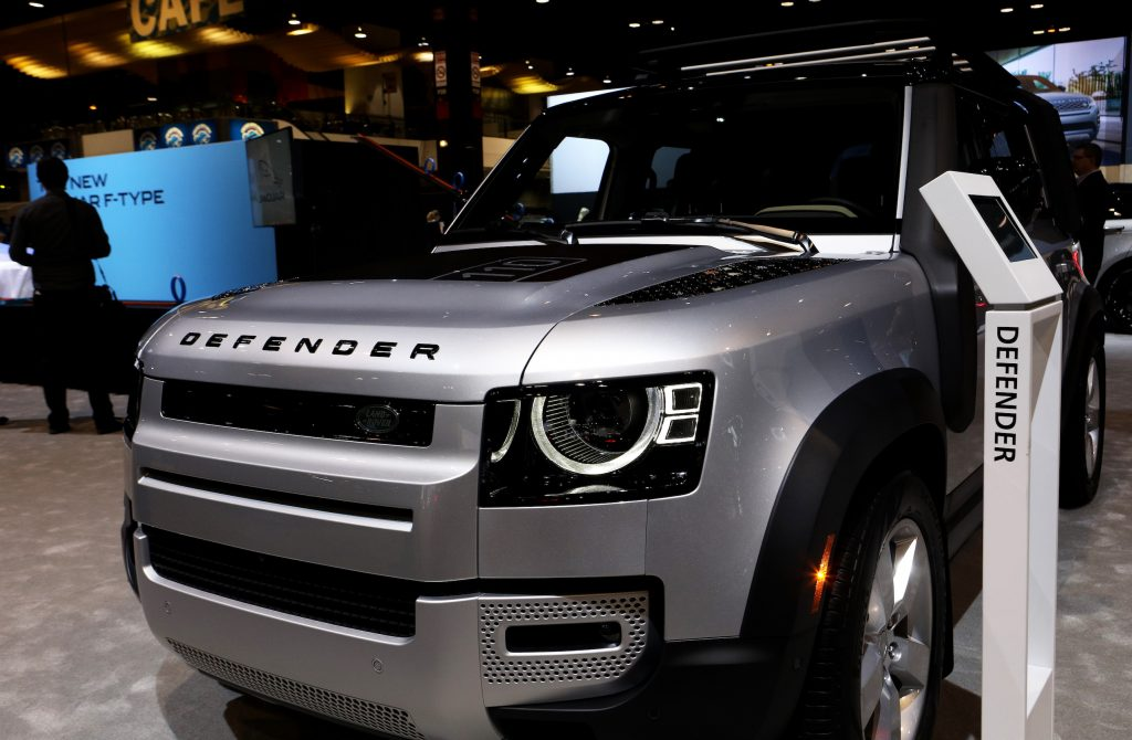 2020 Land Rover Defender is on display at the 112th Annual Chicago Auto Show