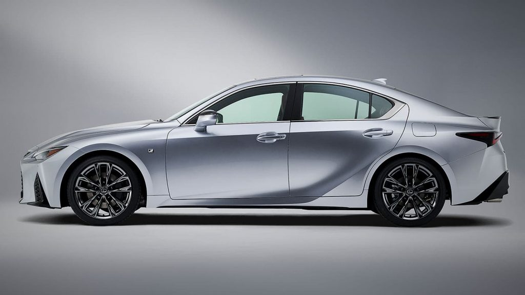 a side shot of the 2021 Lexus IS 350