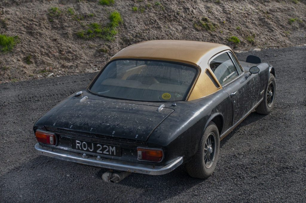 Lotus Elan barn find pulled out into the sun