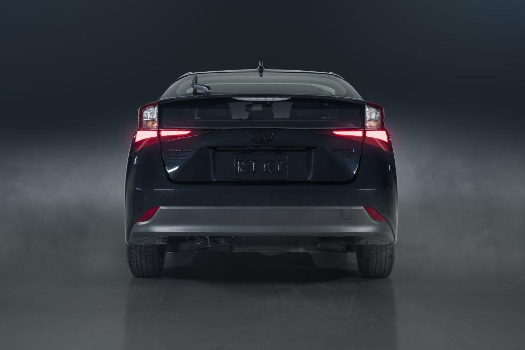 a rear shot of 2022 Toyota Prius Nightshade Edition