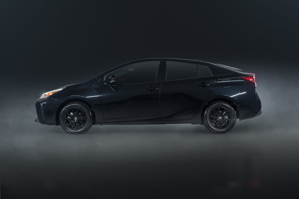 a side shot of the 2022 Toyota Prius Nightshade Edition