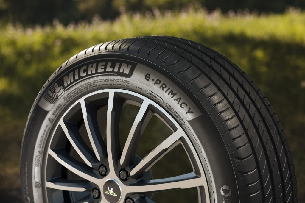 Michelin e.Primacy recycled tires