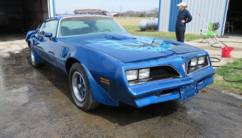 Blue Pontiac Trans Am Firebird found in the collection