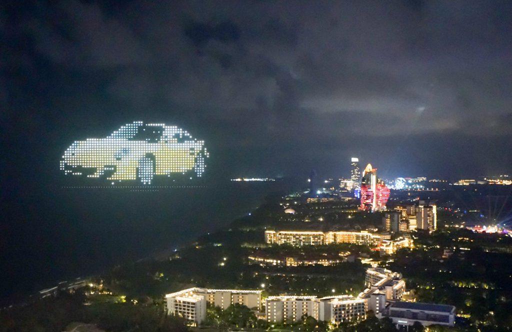 A Porsche 911 firework from China