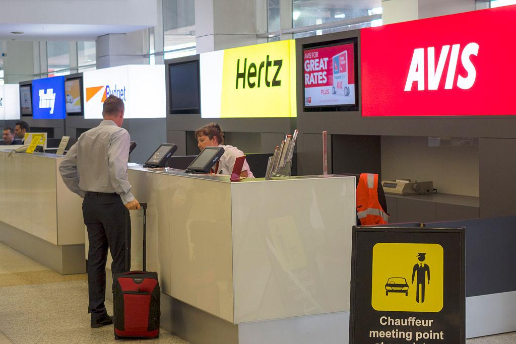 Rental car agencies at airport