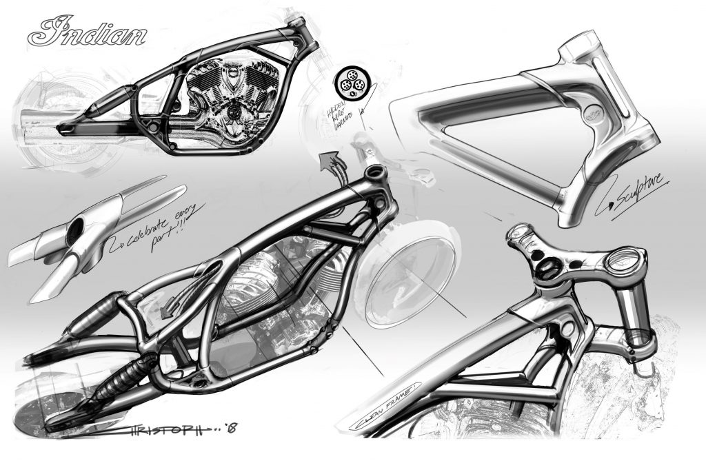 Rich Christoph's initial 2022 Indian Chief sketches