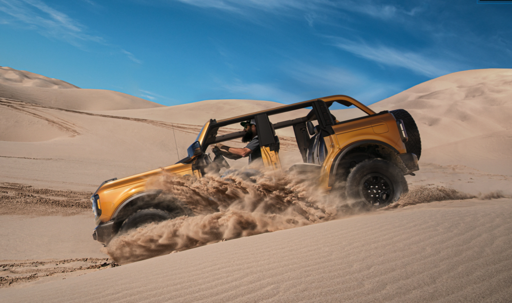 The new 2021 Ford Bronco specs make running through the dunes much easier