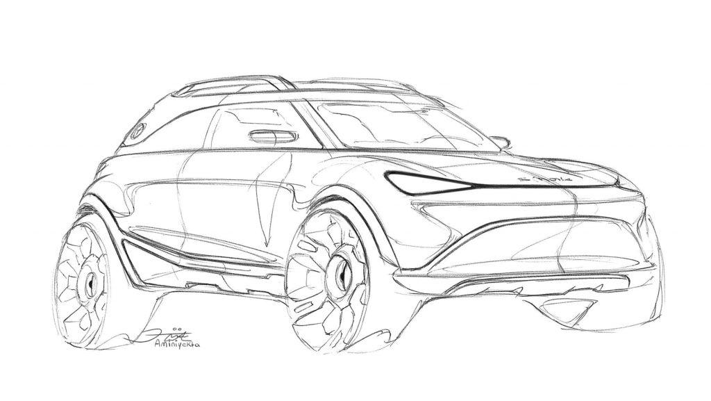 Smart SUV mini fighter sketch