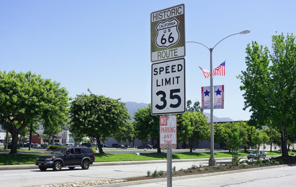 Shown is a 35 mph speed limit sign
