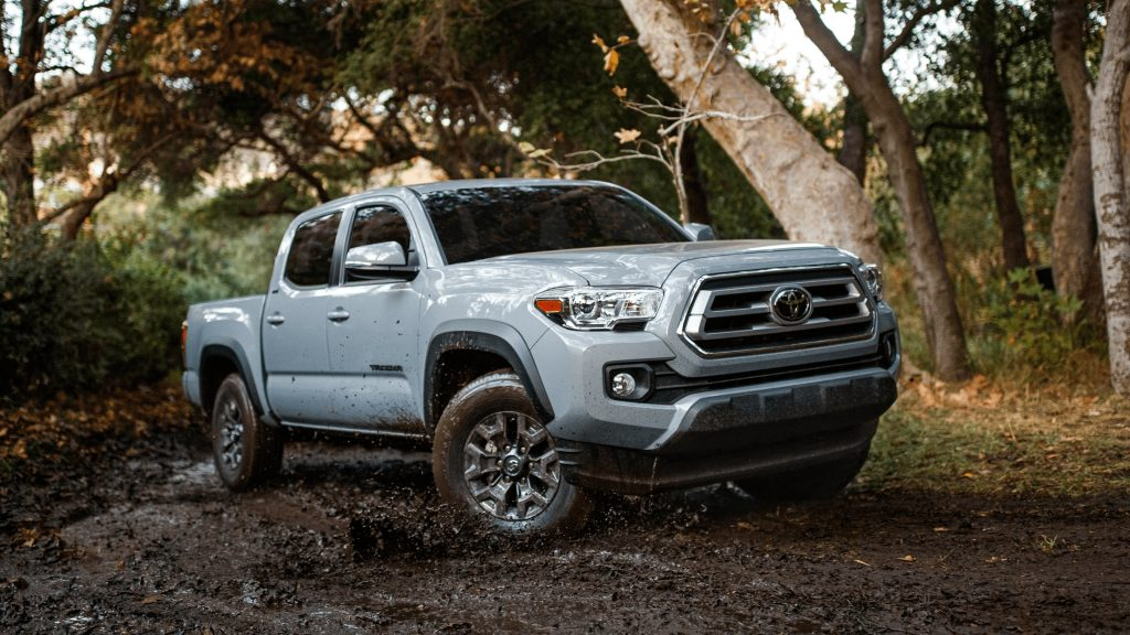 The 2021 Toyota Tacoma in the dirt