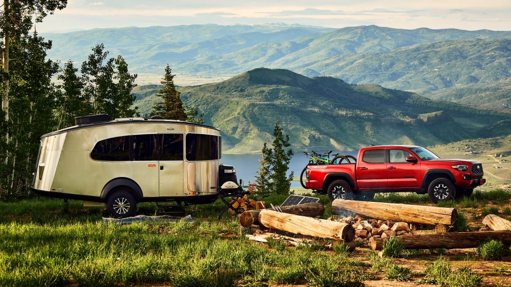 The 2021 Toyota Tacoma with a camper