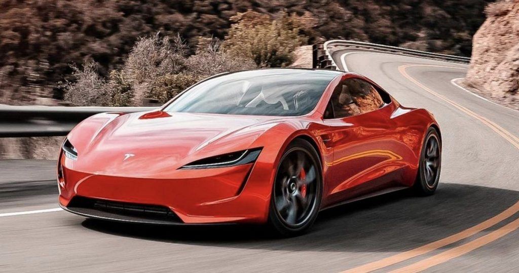 Tesla Roadster front 3/4 view