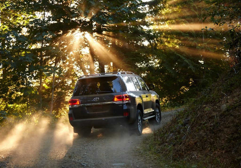 An image of a Toyota Land Cruiser outdoors.