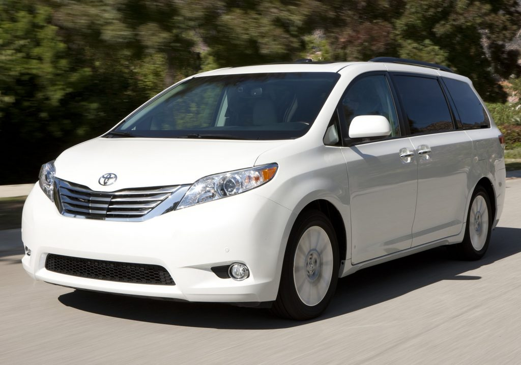 An image of a Toyota Sienna out on the road. A top choice for America's best drivers.