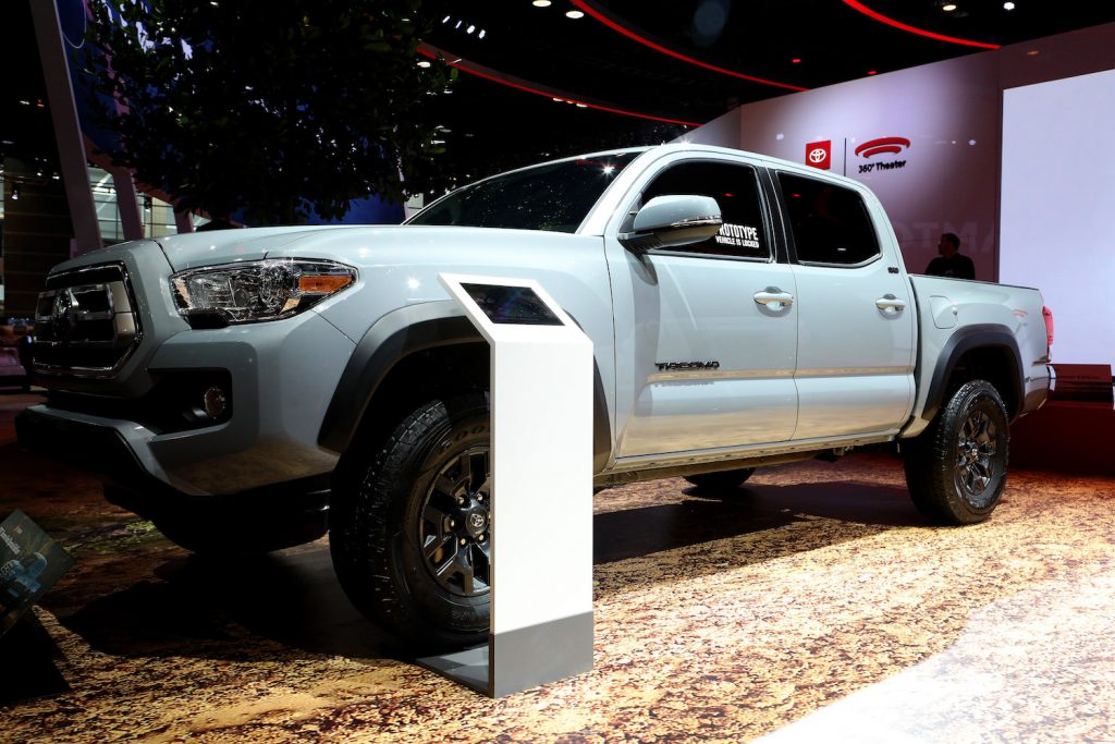 Pictured is a Toyota Tacoma, one of the most reliable midsize pickups according to iSeeCars.