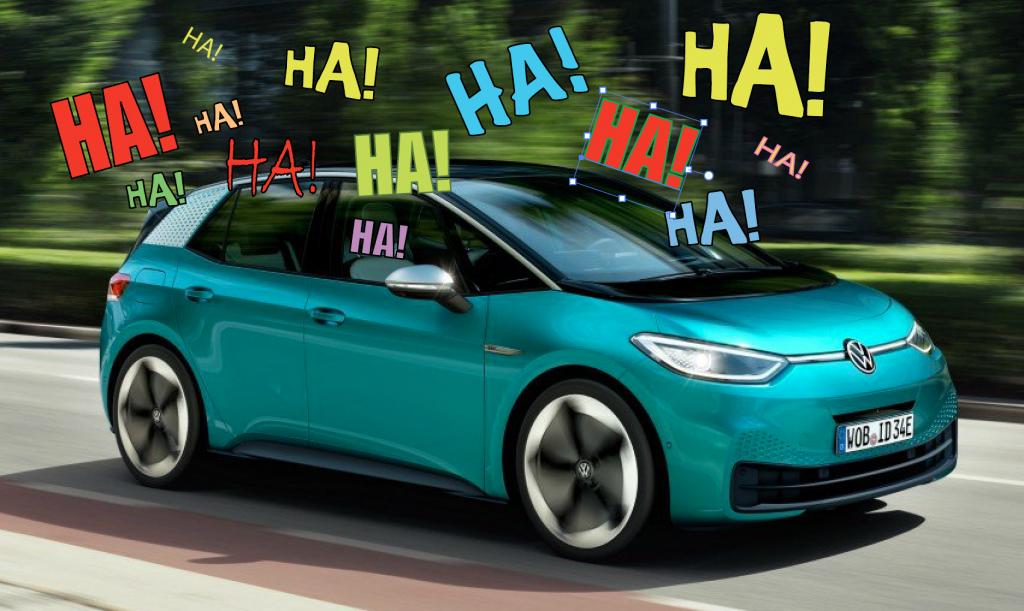 """Volkswagen """"Voltswagen"""" ha ha joke"""