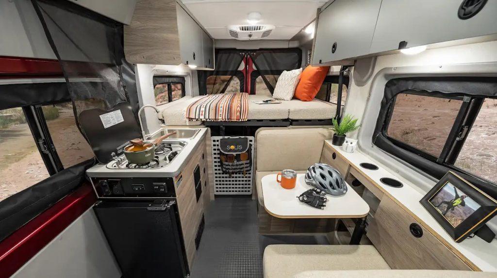 New Winnebago Solis Pocket camper van interior