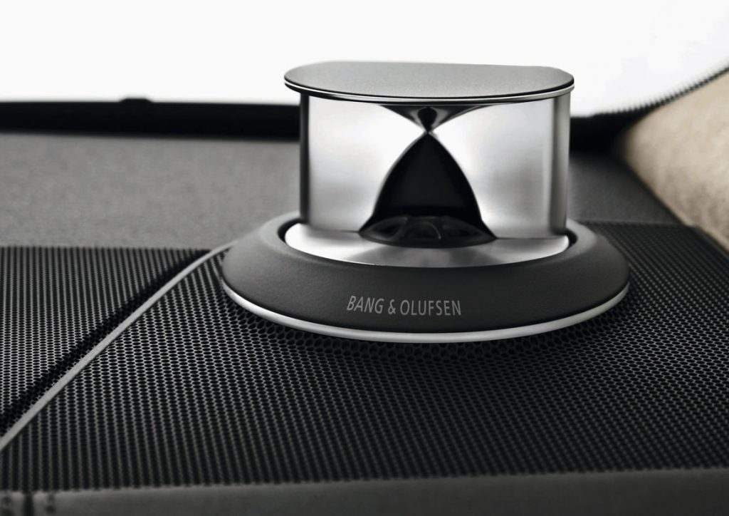 Bang and Olufsen tweeter in an Audi