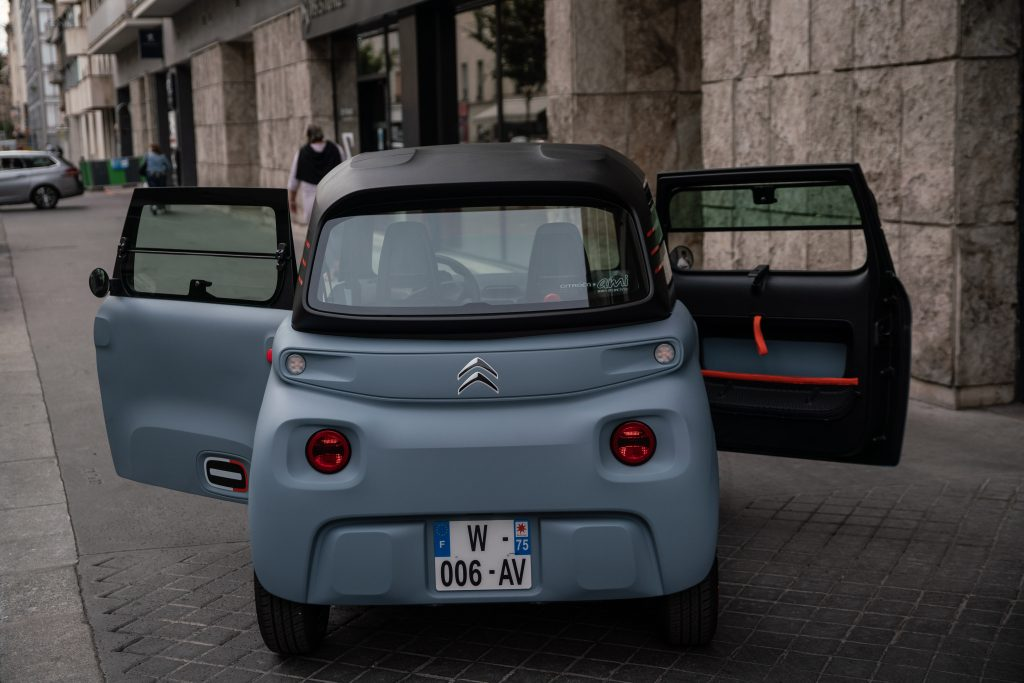 A new Citroen Ami french all-electric urban vehicles