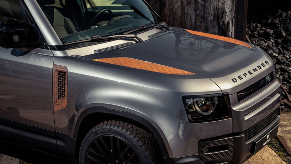 NVRD coachbuilders added rusted panels to a 2021 Land Rover Defender