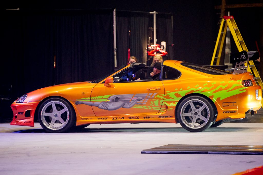 A 1994 Toyota Supra MK IV used on screen by Paul Walker in The Fast and the Furious.