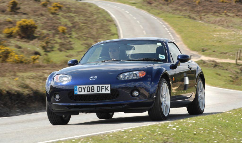 The 2008 Mazda MX-5 Miata made the list of fast cars