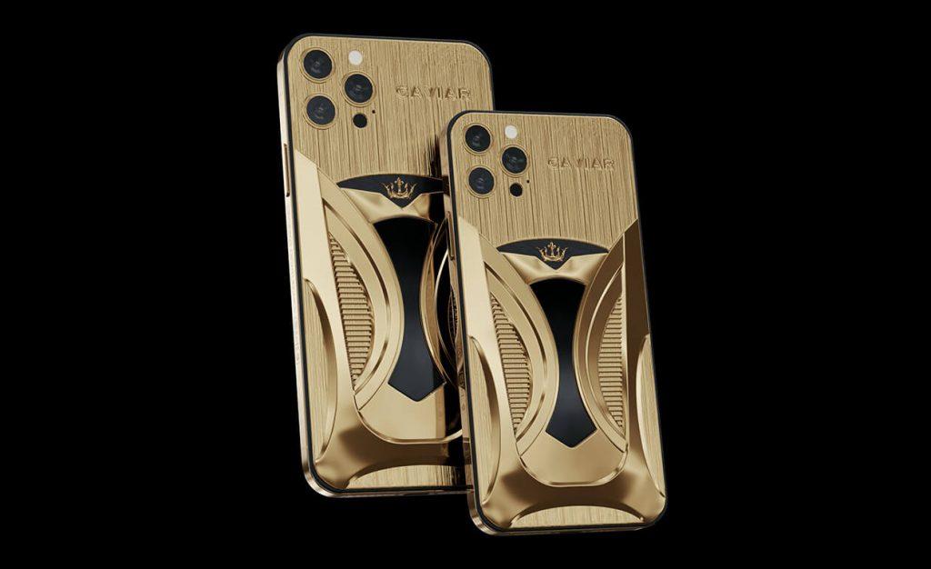 Caviar iPhone 12 gold versions