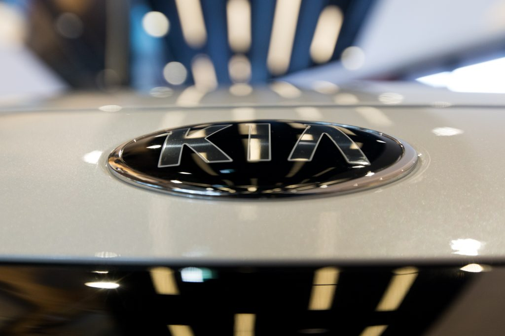 Up close look at the hood of the new Kia K5