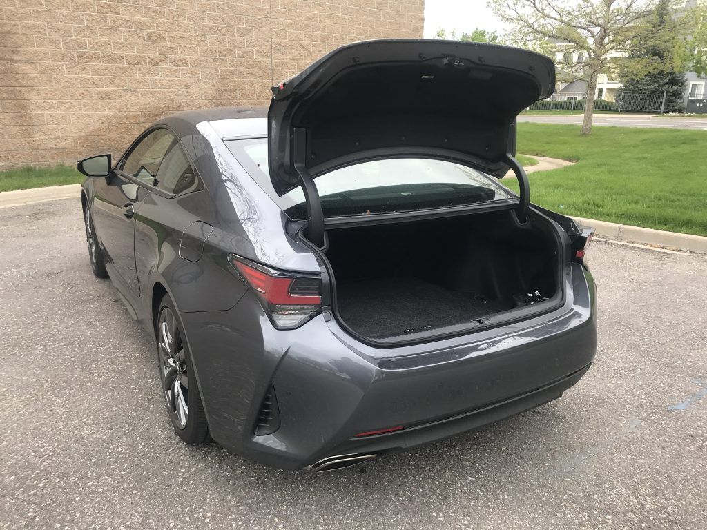 The trunk popped open on the Lexus RC 350