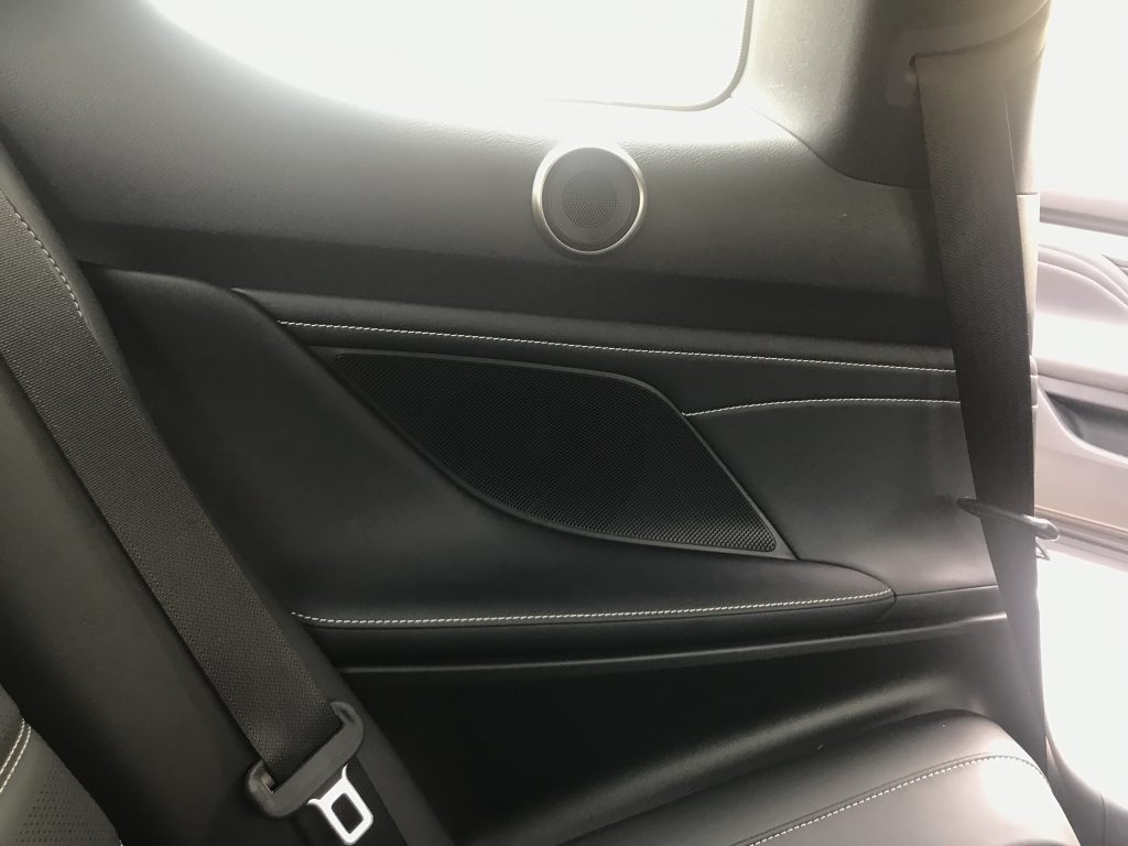 The tweeter in the rear-seat area