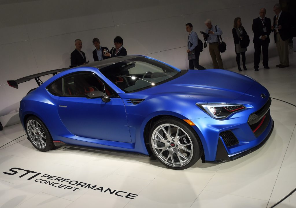 Modded blue Subaru BRZ. Be mindful that car mods can affect your standing with your car insurance provider.
