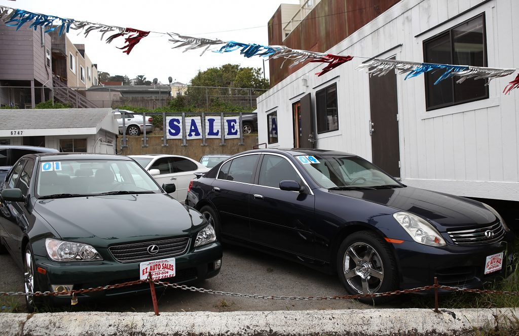 Pre-owned car lot