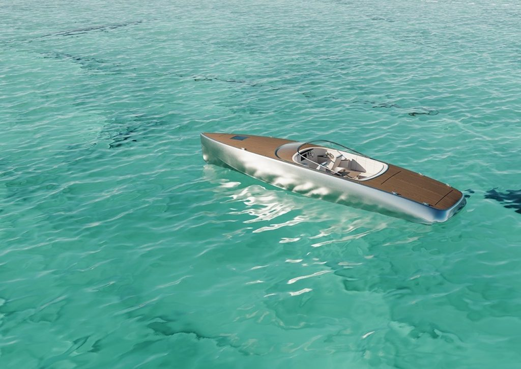 the new Sarvo 37 electric boat might be the most beautiful boat ever made. It is made of polished aluminum, wood and leather.