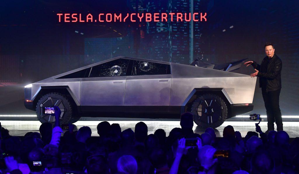 Tesla Cybertruck on display