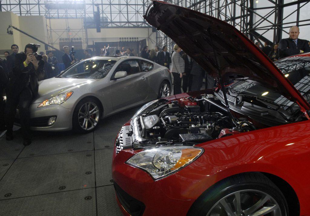 A turbocharged four-cylinder 2009 Hyundai Genesis