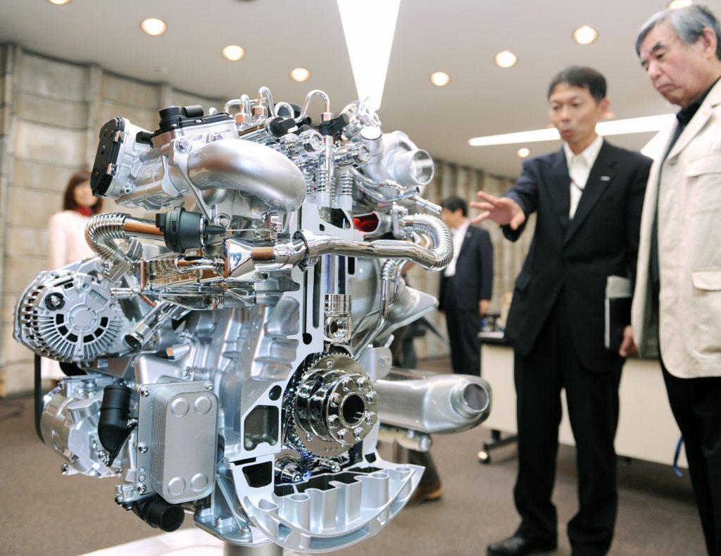 A prototype diesel turbocharged engine