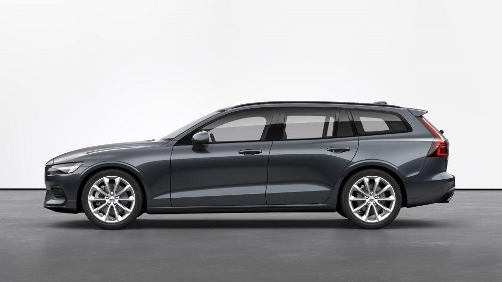 "A Denim blue V60 with the optional multi-spoke 19"" wheels on Volvo's website"