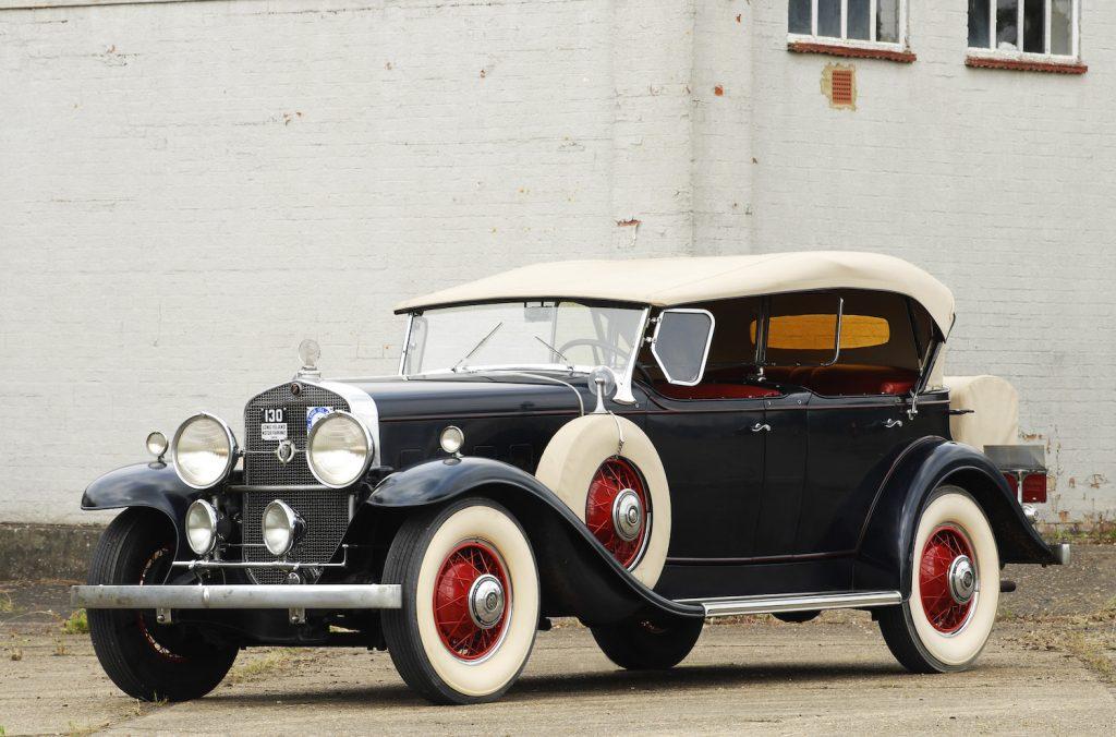A Black 1931 Cadillac Series V8 parked
