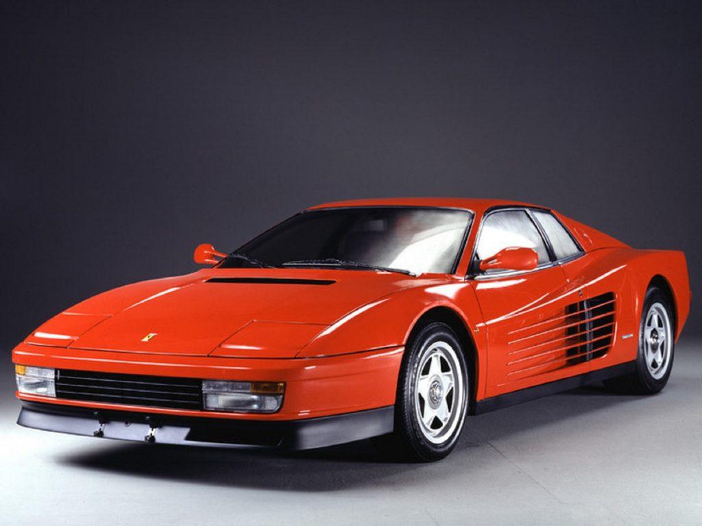 A red 1984 Ferrari Testarossa