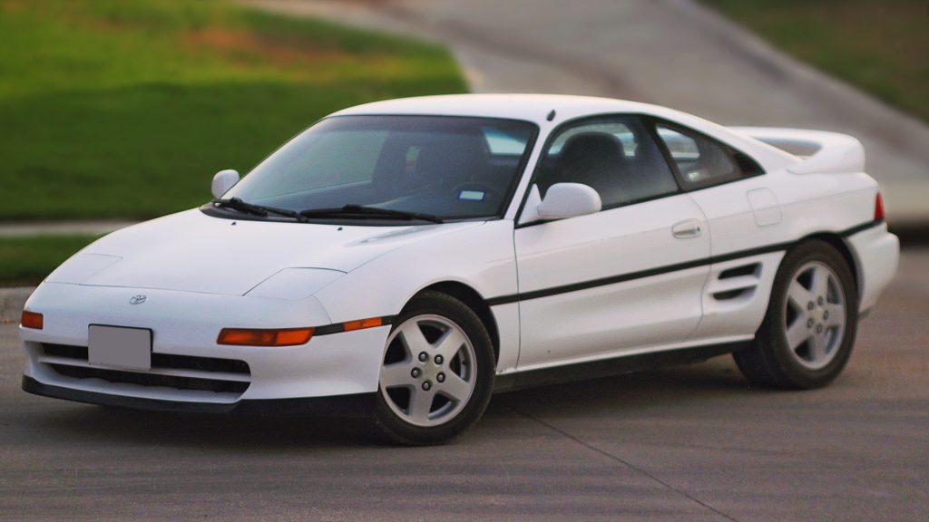 a white 1992 Toyota MR2