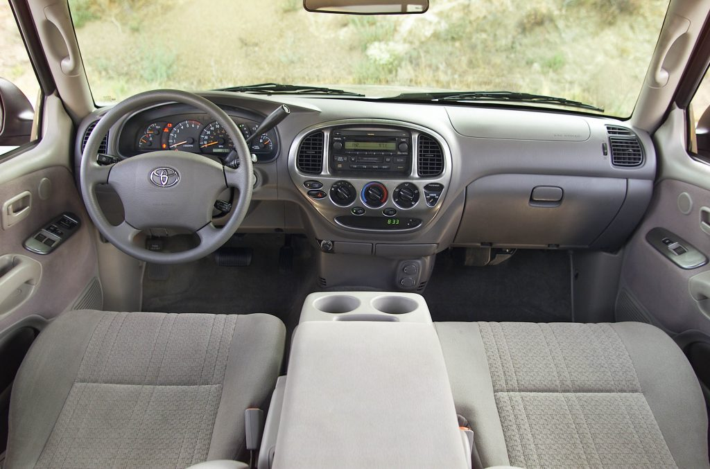 The interior of the XK30 Toyota Tundra
