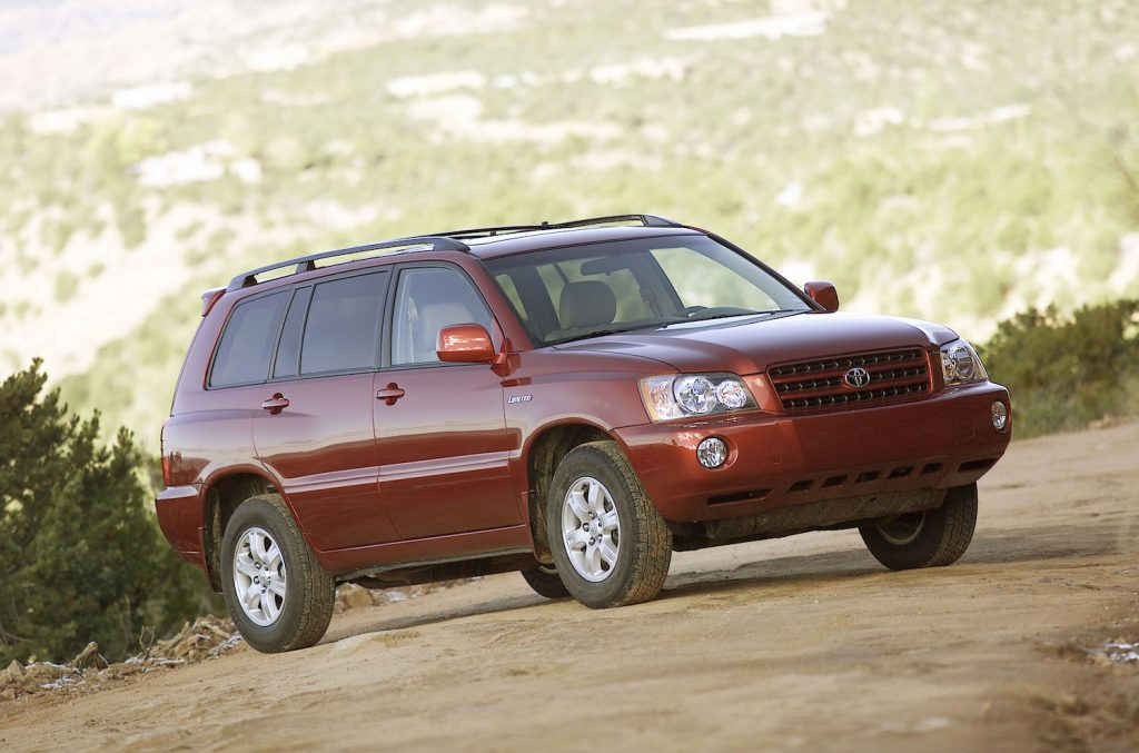 A maroon 2001 Toyota Highlander, the 2001 Toyota Highlander is one of the best cheap used SUVs under $5,000